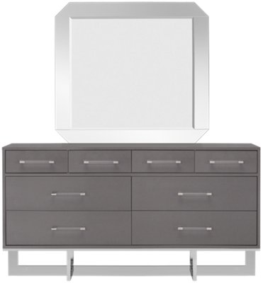 Cortina Gray Dresser & Mirror