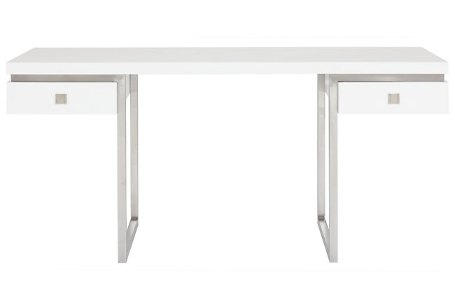 Parker White Wood Desk