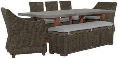 sc 1 st  City Furniture & Canyon Concrete Concrete Rectangular Table u0026 Mixed Chairs
