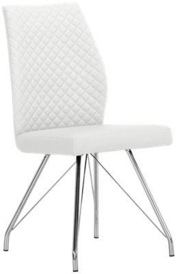 Lima White Upholstered Side Chair