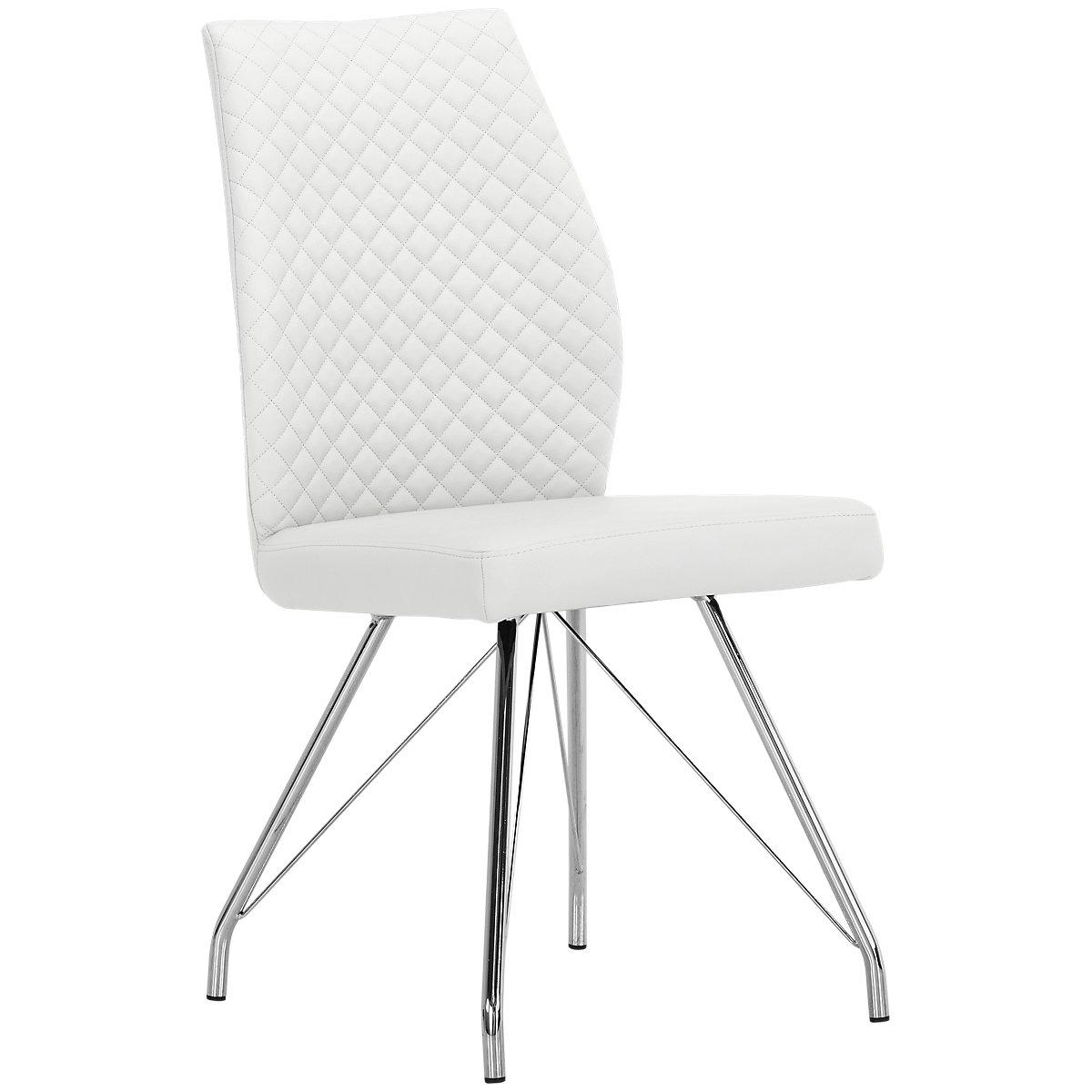 Lima White Upholstered Upholstered Side Chair