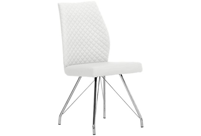 Lima White Upholstered Upholstered Side Chair
