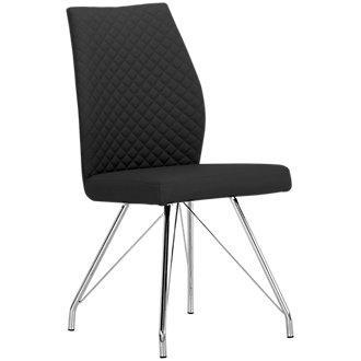 Lima Black Upholstered Side Chair