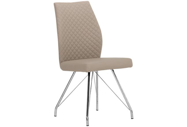 Lima Taupe Upholstered Upholstered Side Chair