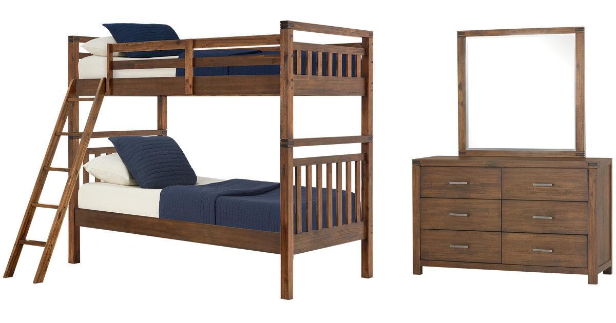 City Furniture Jake Dark Tone Bunk Bed Bedroom