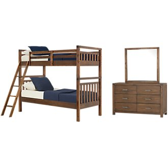 Jake Dark Tone Bunk Bed Bedroom