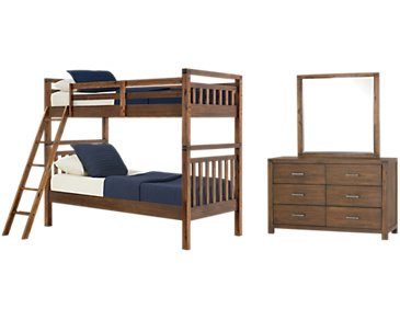 Jake Dark Tone Bunk Bed Bedroom