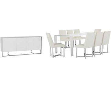 Neo White Rectangular Dining Room