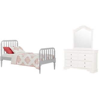 Livie Gray Panel Bedroom