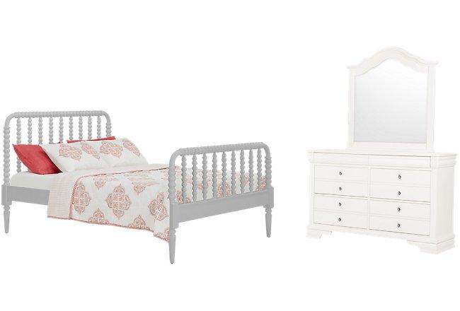 Livie Gray Wood Panel Bedroom