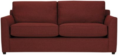 City Furniture Asheville Red Fabric Sofa