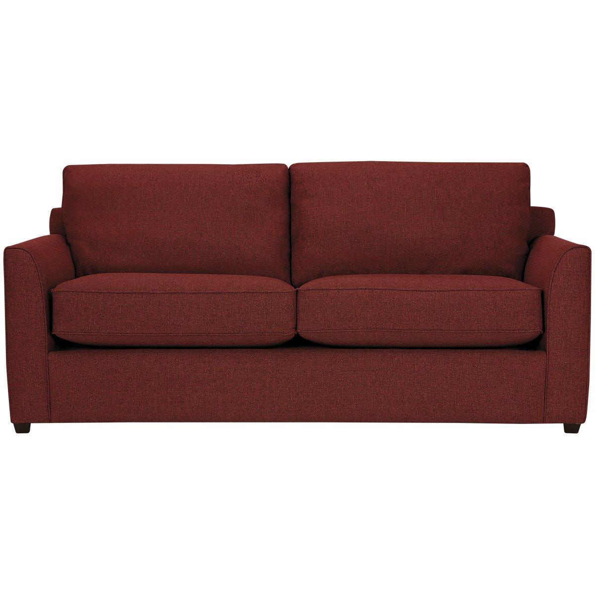 Red fabric sofa divani casa tejon modern red fabric sofa for Sofa bed red