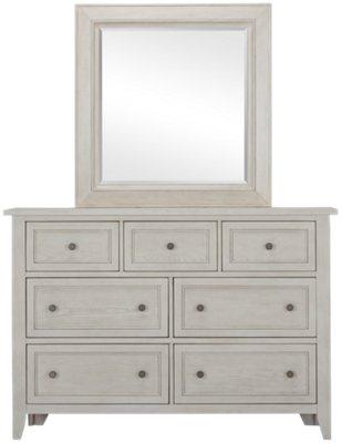 Dawson Ivory Dresser & Mirror