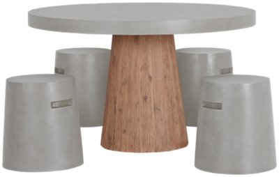 Round Table With Chairs Part - 17: Sydney Concrete Round Table U0026 4 Chairs