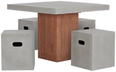 Sydney Concrete Square Table U0026 4 Chairs