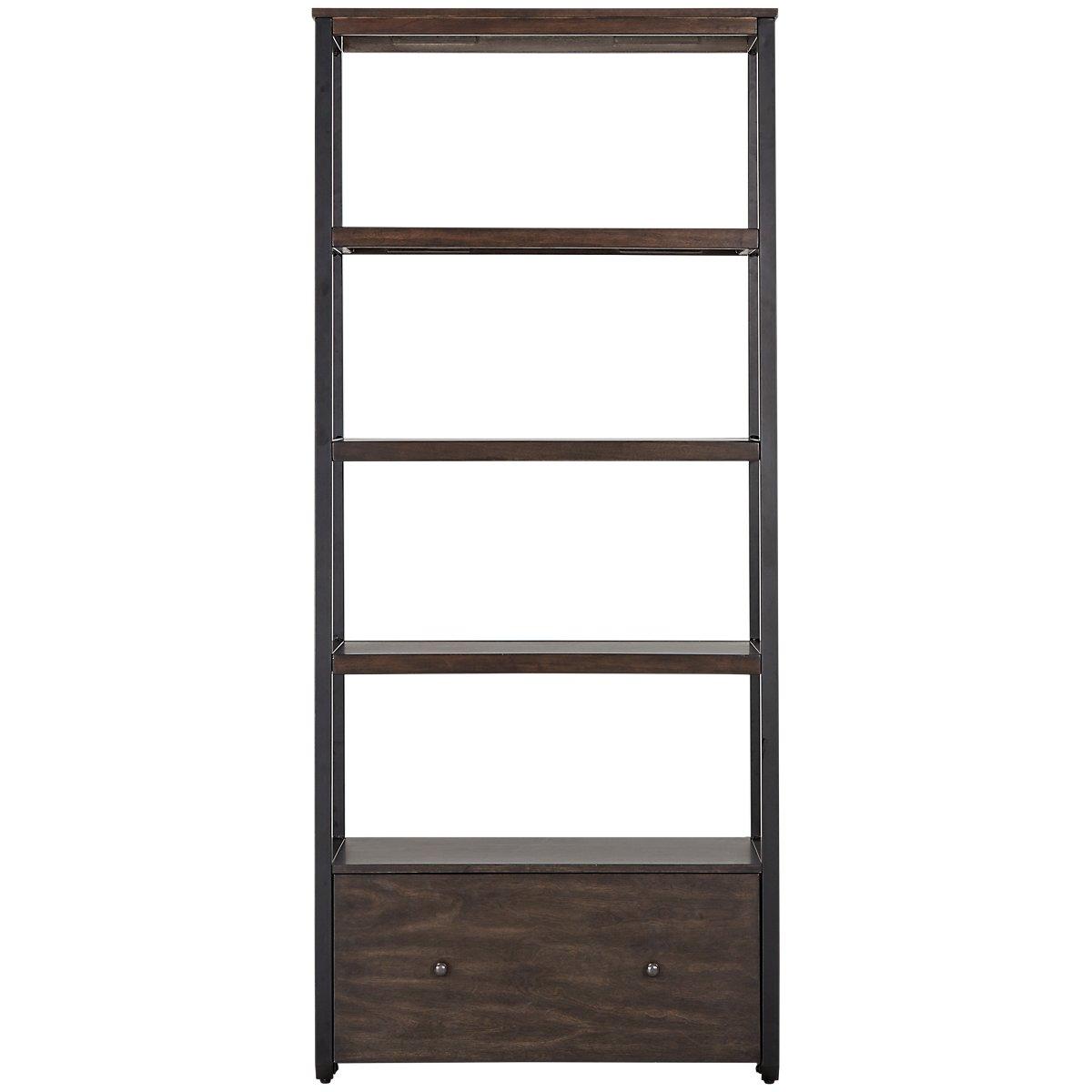 City furniture blaine dark tone bookcase for Blaine storage