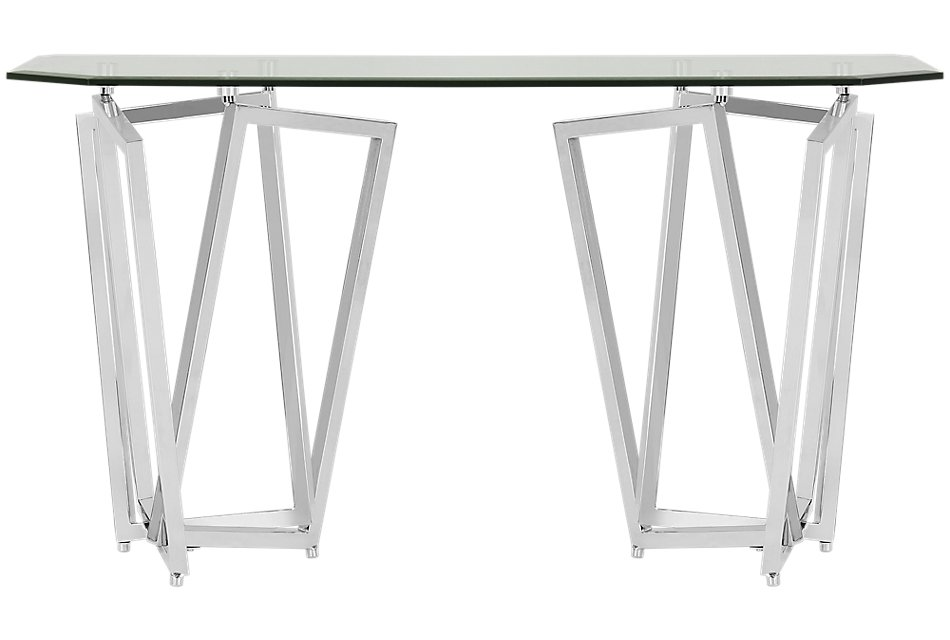 Royce Glass  Sofa Table