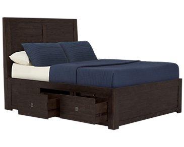 Kona Grove Dark Tone Platform Storage Bed