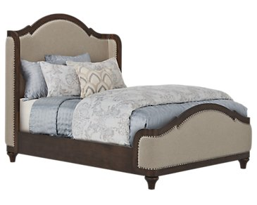Parliament Light Tone Upholstered Panel Bed