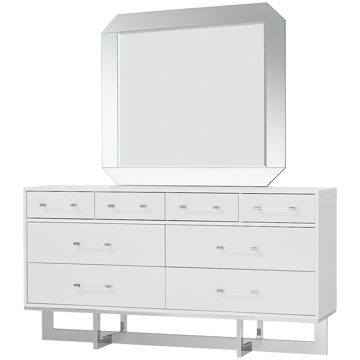 sharp groovy white bedroom inspiration furniture | Cortina White Dresser: Bedroom Furniture
