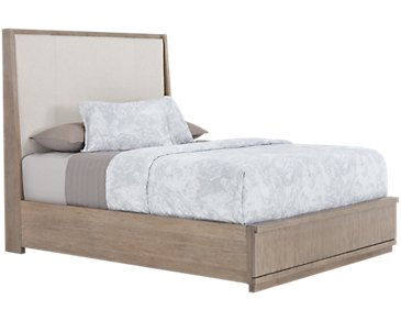Gramercy Light Tone Upholstered Platform Bed