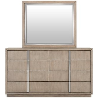 Gramercy Light Tone Dresser & Mirror