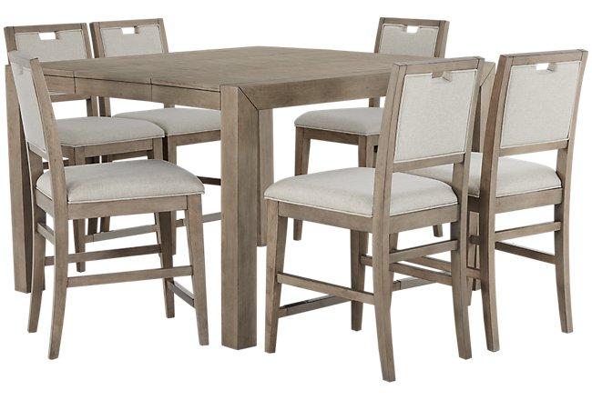 Gramercy Light Tone High Table & 4 Barstools