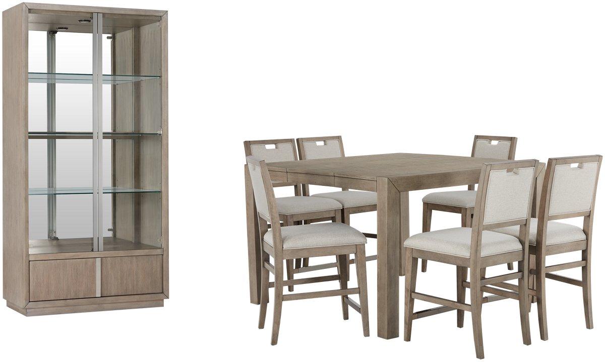 City Furniture Gramercy Light Tone High Dining Room