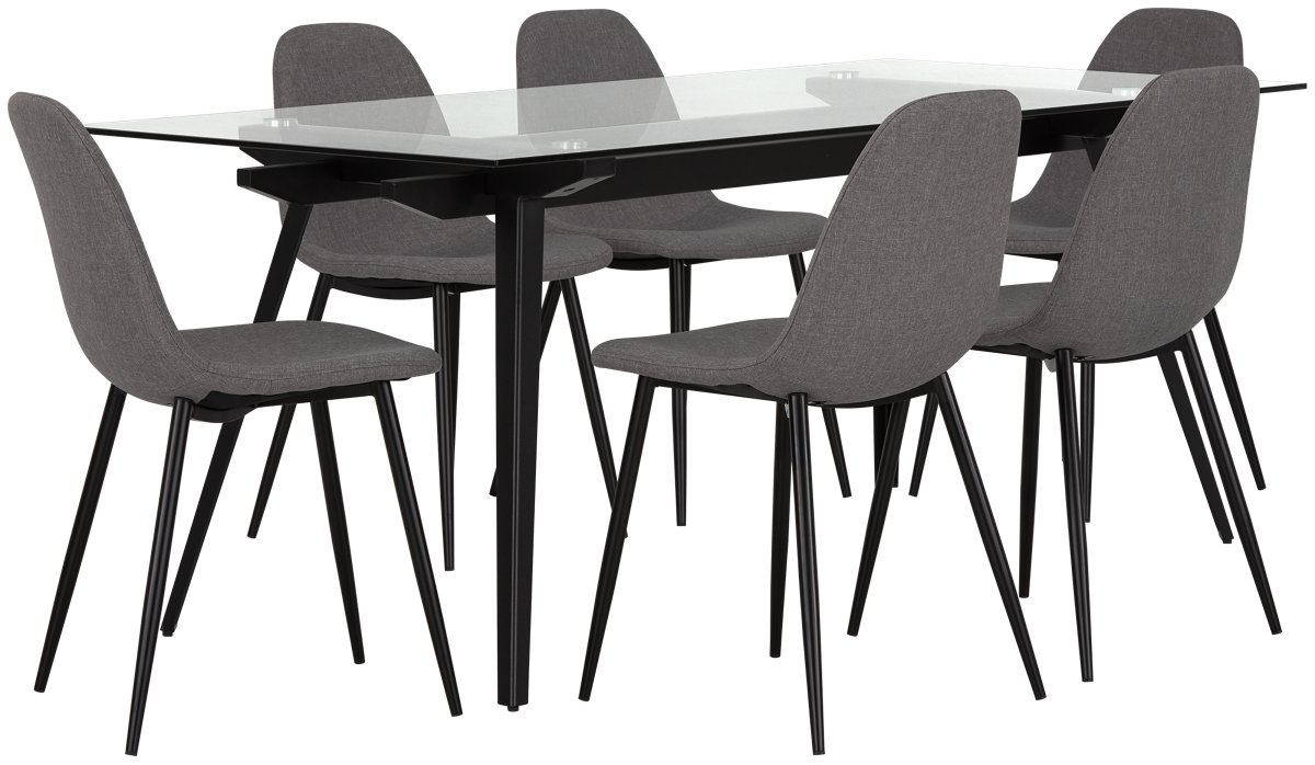 City Furniture Miles Gray Glass Table amp 4 Upholstered Chairs : G1709710192N00wid1200amphei1200ampfmtjpegampqlt850ampopsharpen0ampresModesharp2ampopusm1180ampiccEmbed0 from www.cityfurniture.com size 1200 x 1200 jpeg 109kB