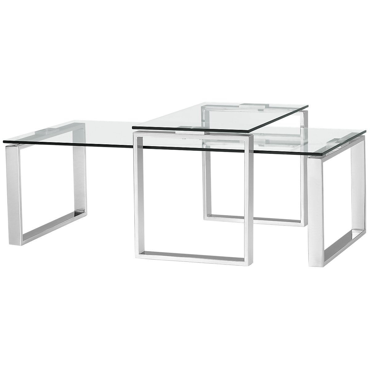 Katrina Clear Glass 2 Pack Tables
