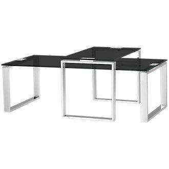 Katrina Black Glass 2 Pack Tables