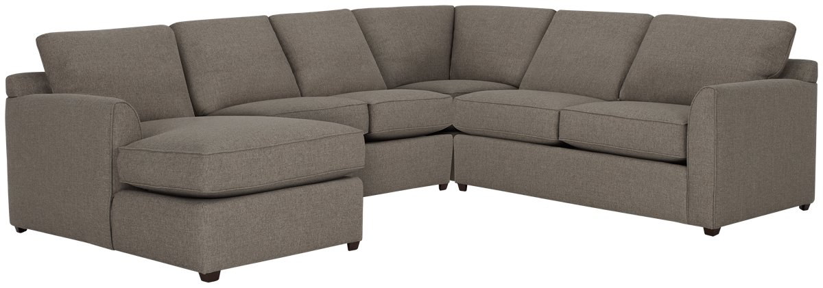 Asheville Brown Fabric Medium Left Chaise Sectional