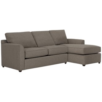 Asheville Brown Fabric Right Chaise Sectional