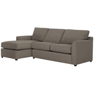 Asheville Brown Fabric Left Chaise Sectional