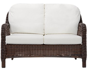 Cape White Loveseat
