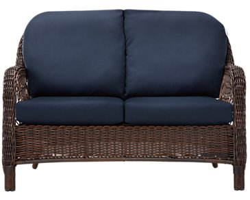 Cape Dark Blue Loveseat