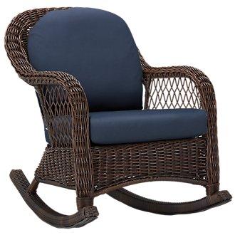 Cape Dark Blue Rocking Chair