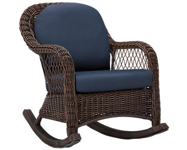 Cape Dark Blue Rocking Chair