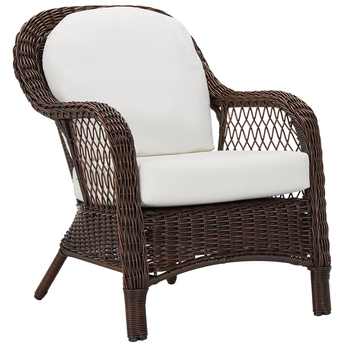Cape White Arm Chair