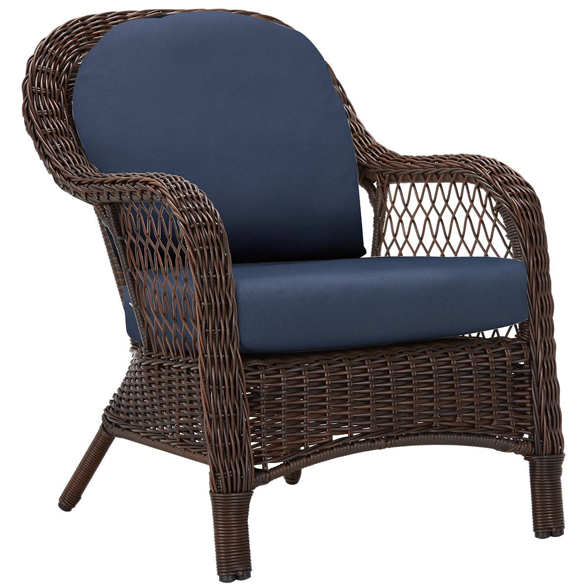Cape Dark Blue Arm Chair