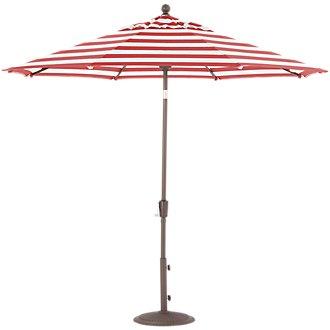 Maui Red Stripe Umbrella Set