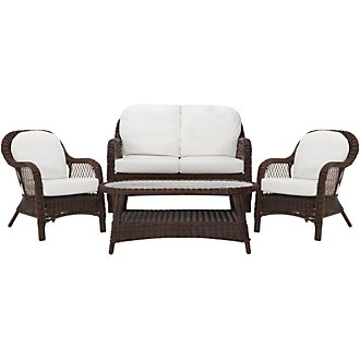 Cape White Outdoor Chat Set