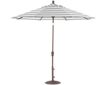 Maui Gray Stripe Umbrella Set