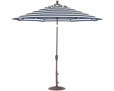 Maui Dark Blue Stripe Umbrella Set