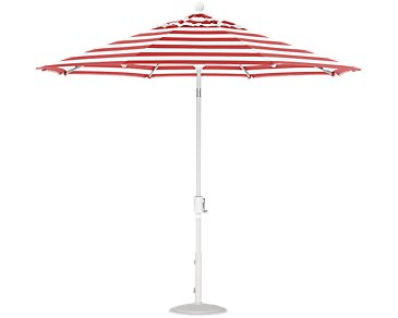 Capri Red Stripe Umbrella Set