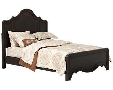 Corinne Dark Tone Panel Bed