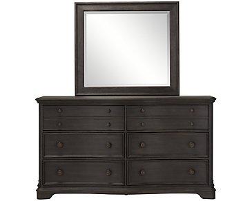 Corinne Dark Tone Dresser & Mirror