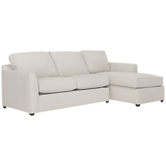 Asheville Light Taupe Fabric Right Chaise Sectional