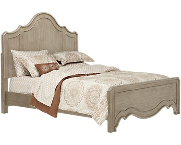Corinne Light Tone Panel Bed