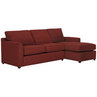 Asheville Red Fabric Right Chaise Sectional
